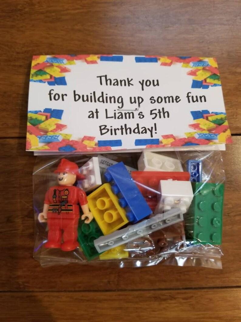 Building Block Party Blocks Party Favor bags Boy Party Favor bags Building Blocks with Figure Party Favor Bags non candy favor