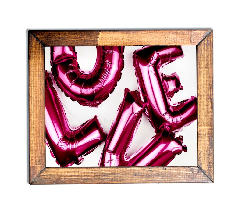 Pink LOVE Balloons,  #Mylar,#Balloons,#Pink,#Love,#Fun,#Bright,#Decor,#Printable,#Office,#Home