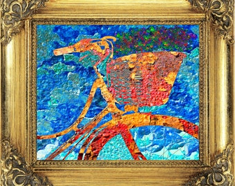 Old Bike Print,#Bicycle,#Cycle,#Vintage,#Antique,#Chipped,#Rustic,#Art,#Painting,#Ride,#Sports,#InteriorDesign,#Bright,#Decor,#DIY