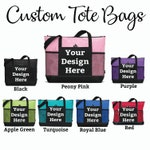 Custom Tote Bag, Free Shipping, Custom Totebag, Custom Tote Bag with Pockets, Personalized Tote Bag, Tote Bag, Totebag, Custom Bag