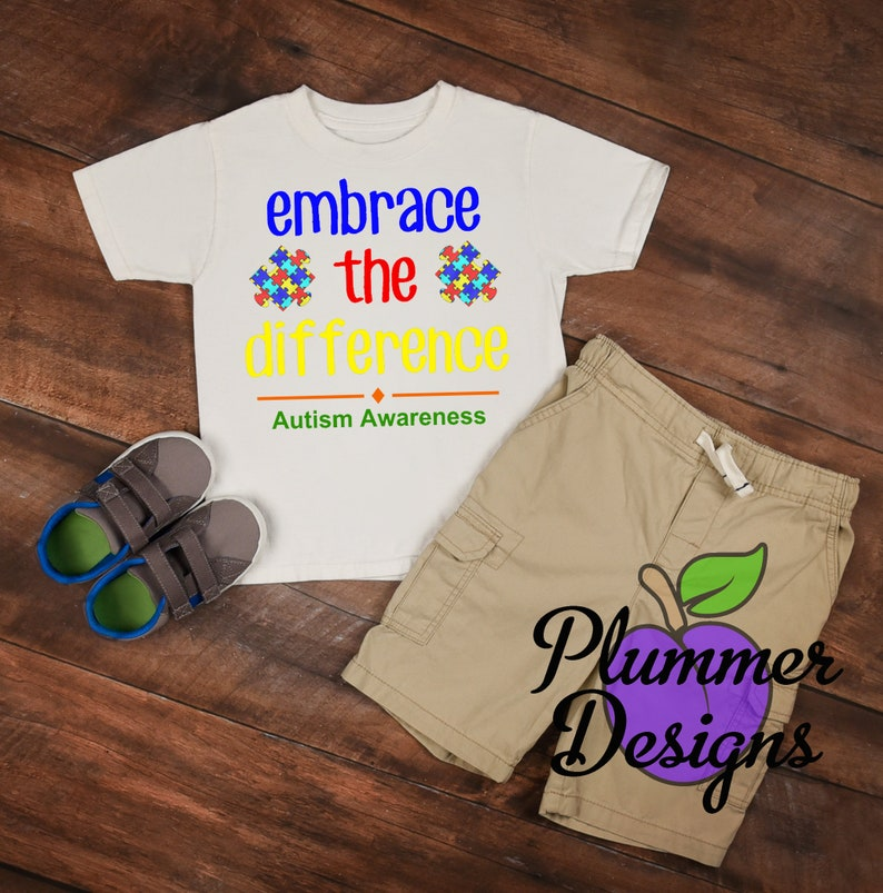 Embrace the Difference T-Shirt Autism Awareness T-Shirt image 0