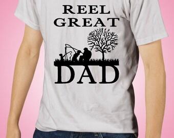 Reel Great Dad T-Shirt, Reel Great Dad Tshirt, Father's Day Shirt, Father's Day Gift, Father's Day, Dad, Father, Shirt, Tshirt, Custom