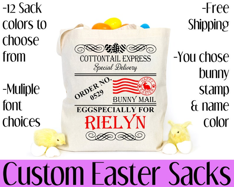 Personalized Easter Sacks Free Shipping Easter Easter image 0