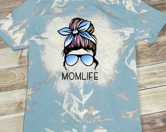 Bleached Momlife T-Shirt, Bleached Momlife Shirt, Bleached Mom Life T-Shirt, Bleached Mom Life Shirt, Bleached Shirt, Momlife shirt,Mom Life