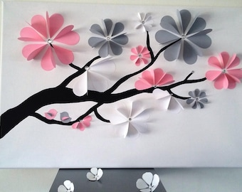 guest book - tree signature-3d tree prints with Rhinestones for 40 to 65 people.