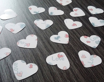 "Table confetti 100 x hearts ""love"""