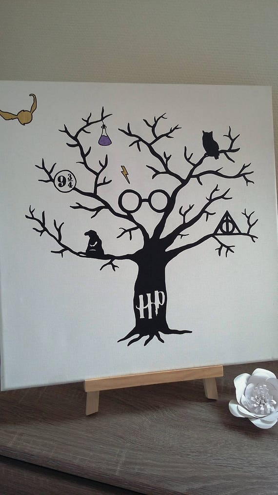 Fingerprint Tree Harry Potter Urodziny Wesele Etsy