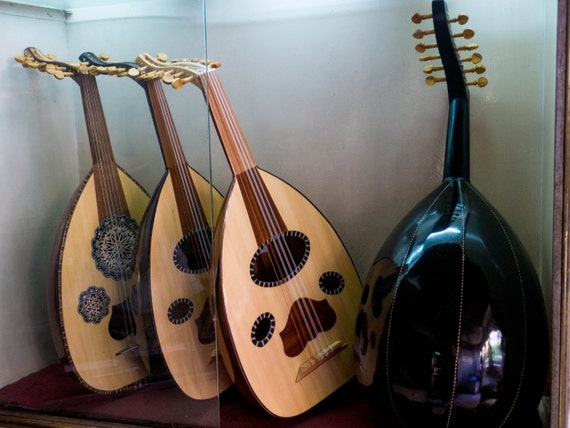 Legno di mogano turco Oud fatto a mano strumento musicale liuto