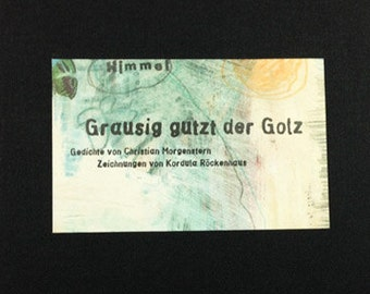 """Book """"Grausig gutzt der Golz"""" Poems and Drawings"""