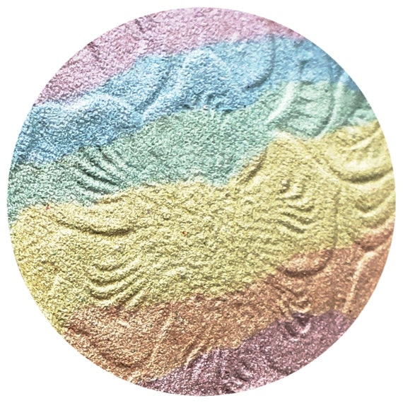 c7b99e5ea6e93 Mermaid Fantasies Jumbo 59mm, 44mm, 37mm size WITH Compact Pastel Rainbow  poly chrome Highlighter.