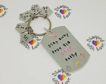 Weight loss progress keyring, motivation, slimming world, weight watchers, weight loss tracking, loosing weight checkers, cupcake, ww