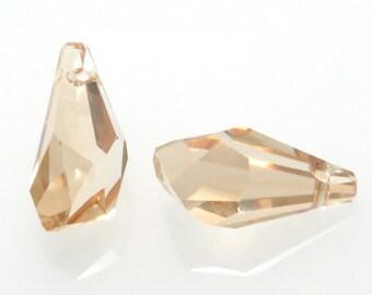 88bfae6696d7a Crystal golden shadow polygon swarovski | Etsy