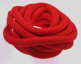 Thick round parachute rope Semisoft Cord 10mm round braided Cord choose from 32 different colors Strong climbing cord Paracord rope