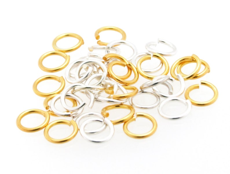 - 10pcs 6mm Open Jump Rings 925 Sterling Silver 1.2mm Dia