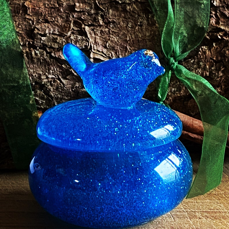 Glittery Bird Bowl Whimsical Bird Dish small ring dish