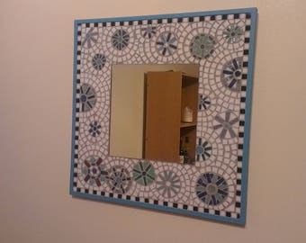 handmade mosaic art mirror
