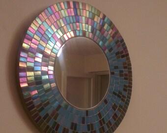 Mosaic Mirror Opalescent glass mosaic