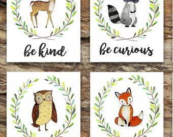 Woodland / Baby Gift / Nursery Decor / Shower Gift / Bear / Boho / Wall Art / Nature / Home Decor / Tribal / Fox / Deer / Bunny / Owl Moose