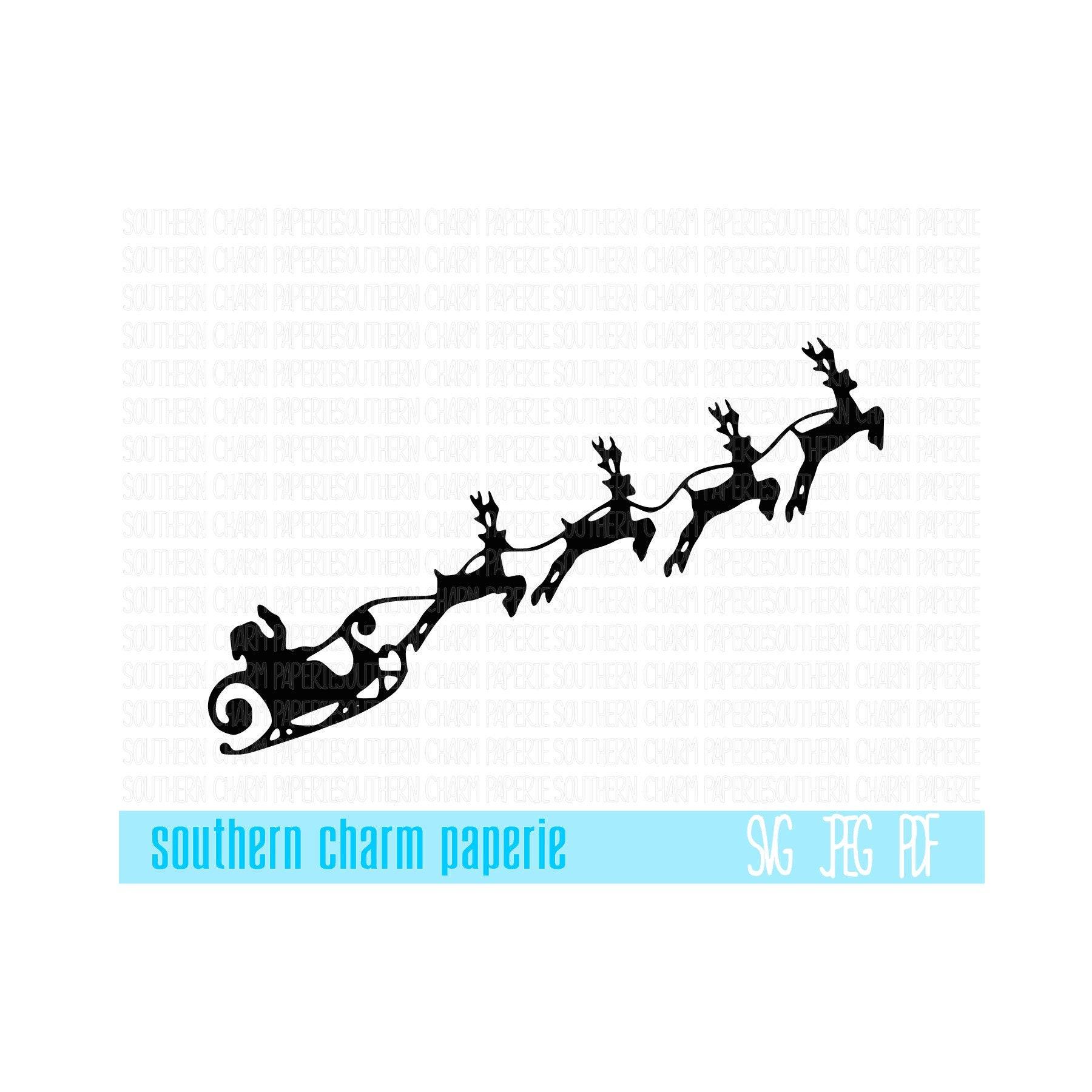 Weihnachtsmann Schlitten Rentier Weihnachten SVG schneiden | Etsy