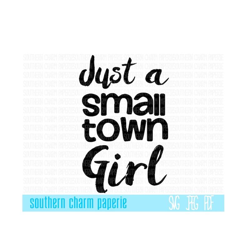 Just A Small Town Girl Popular SVG Cut File Rock Music Lyrics | Etsy