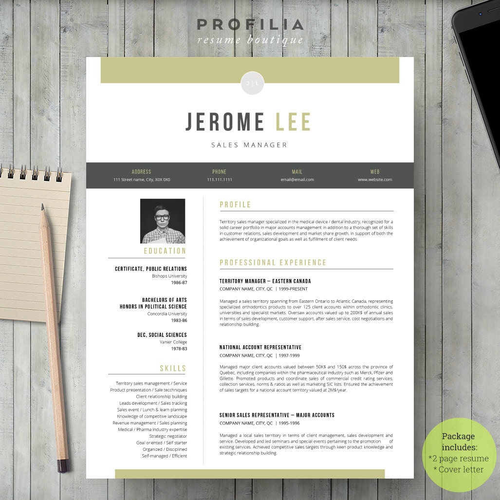 modern resume  u0026 cover letter template editable word format