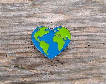 Love the Earth Pin, Earth Day Pin, Pin for Backpacks, Pin for Vests, Pin For Denim