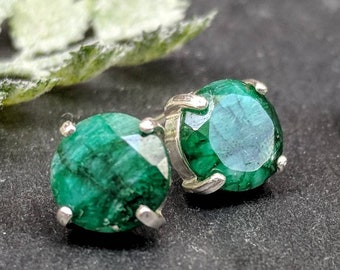 Official Website Earring Oval Green Onyx Gemstone 925 Sterling Silver Hand Made Jade White 905