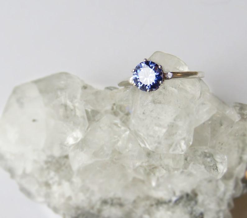Brilliant Purple Tanzanite Ring Tanzanite Ring Genuine Tanzanite Engagement SALE 20/% off LIMITED STOCK Bright Tanzanite Solitaire Ring