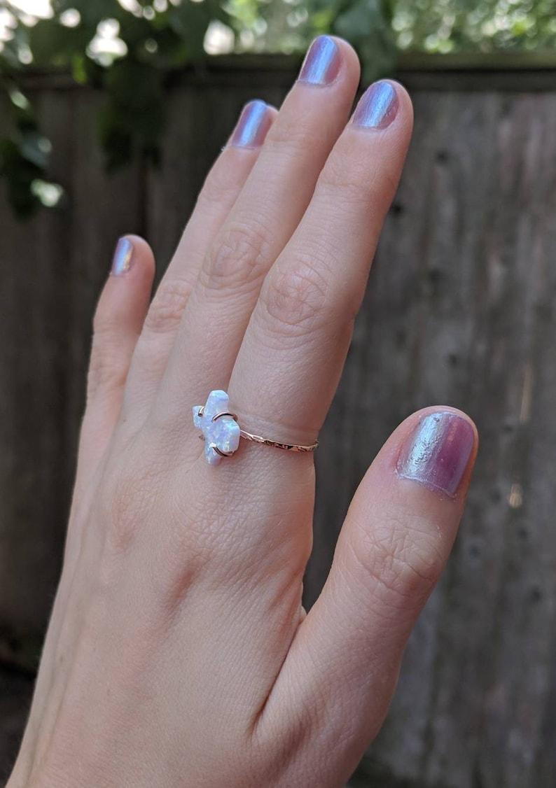 Opal texas ring unique Texas ring Texas opal jewelry Texas state ring unique Texas ring white fire opal Texas ring Texas shape opal