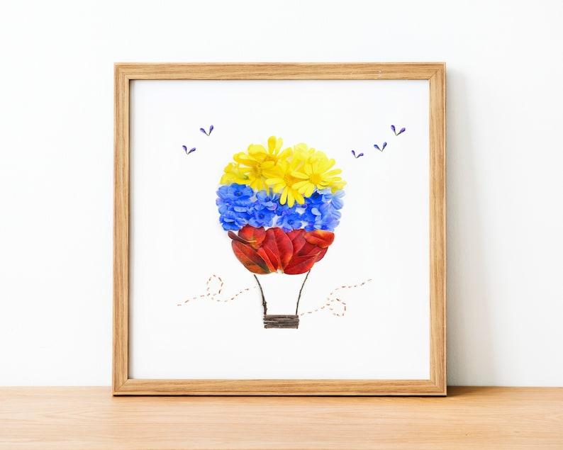 Venezuela art Hot air balloon Wall Art nursery decor kids image 0