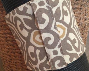 Yoga Mat Wrap with Handle ~ Yoga Mat Carrier with Handle ~ Mat Wrap