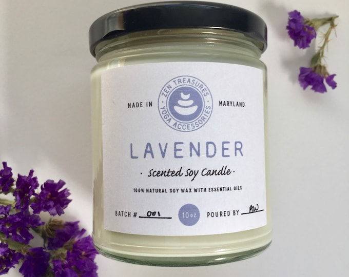 Hand Poured Soy Candle ~ Lavender