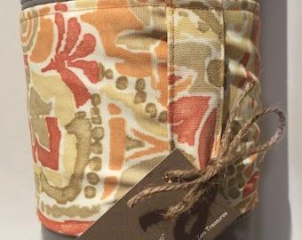 Extra Long Yoga Mat Wrap - Coral Aztec ~ Mat Carrier