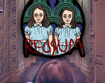 The Shining Grady Twins Redrum Sticker By VOIDEaD