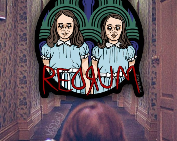 Featured listing image: The Shining Grady Twins Redrum Sticker By VOIDEaD