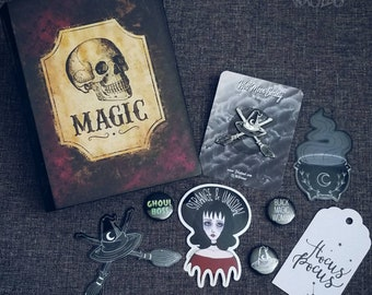 Hocus Pocus Witchy Enamel Lapel Pin and Sticker Gift Set By VOIDEaD