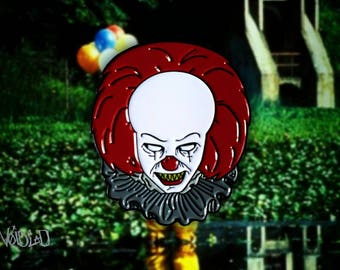 "IT Pennywise ""You'll Float Too"" Enamel Lapel Pin By VOIDEaD"