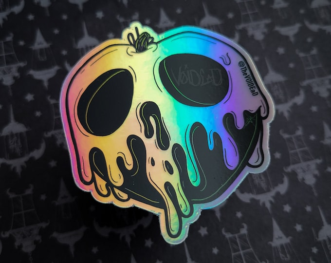 Featured listing image: Holographic Poison Apple Sticker By VOIDEaD