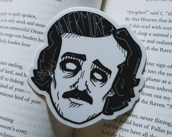 Edgar Allan Poe Stickers By VOIDEaD