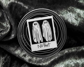 No Feet Ghost Weatherproof Sticker By VOIDEaD