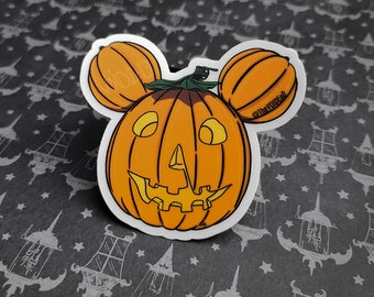 Myers Pumpkin Mouse Sticker By VOIDEaD