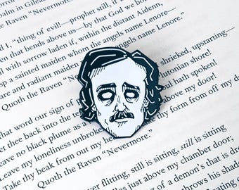 Edgar Allan Poe Enamel Lapel Pin By VOIDEaD