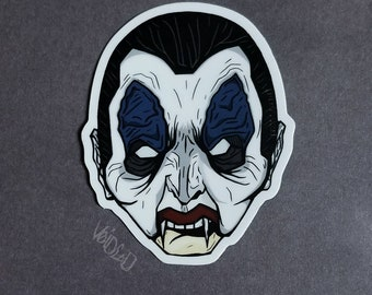 Trick R Treat Dracula Mask Sticker By VOIDEaD