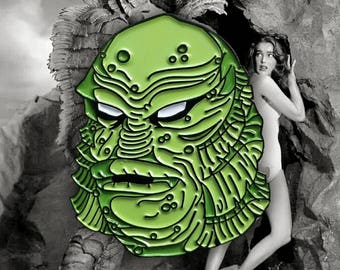 Creature From The Black Lagoon Gillman Enamel Lapel Pin By VOIDEaD
