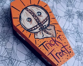 Trick R Treat Sam Hand painted Coffin Box By VOIDEaD
