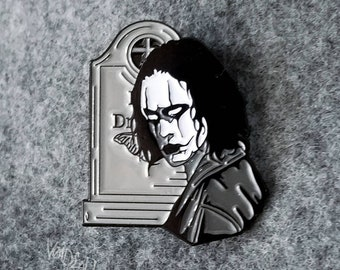 "The Crow ""It Cant Rain All The Time"" Enamel Lapel Pin By VOIDEaD"