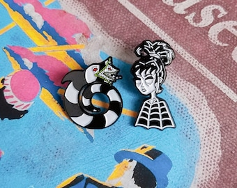 Lydia Deetz and SandWorm #2 Lapel Pin Set By VOIDEaD