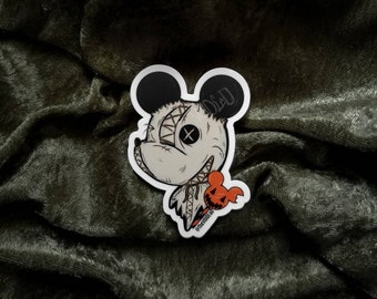 Trick R Treat Mouse Sticker By VOIDEaD ( candy, samhain )