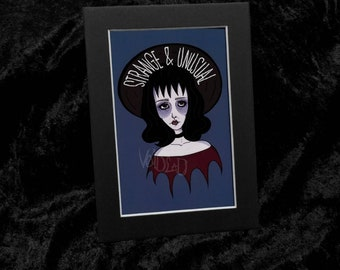 Strange and Unusual Lydia Deetz Art Print By VOIDEaD