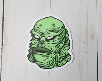 Gillman Creature From The Black Lagoon Sticker By VOIDEaD